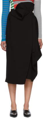 Enfold Black Asymmetrical 3D Dry Cloth Skirt