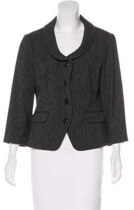 DKNY Long Sleeve Button-Up Blazer