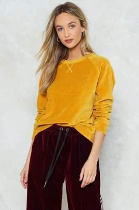 Nasty Gal Gimme Velour Sweatshirt