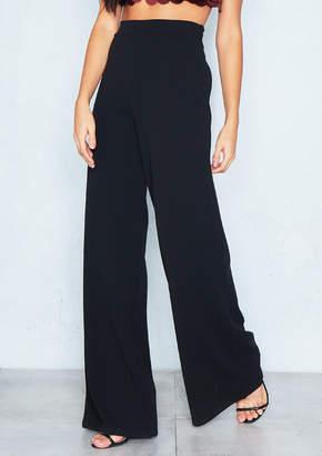 bb50a96584e1 Missy Empire Missyempire Kelsey Black High Waist Wide Leg Trousers