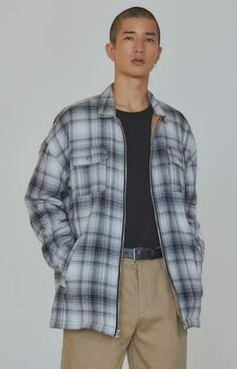 PacSun Editor's Choice Lunch Plaid Flannel Zip Shacket