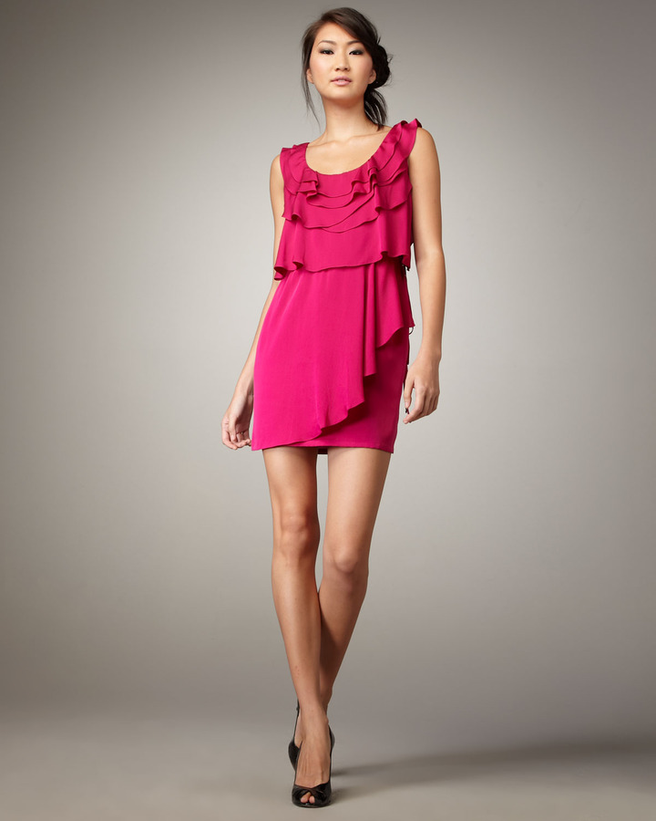 Ali Ro Tiered Tie-Waist Dress