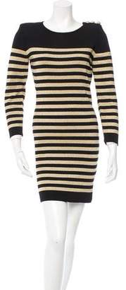 Balmain Metallic Striped Dress