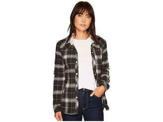 True Grit Dylan by Melange Flannel Frosty Tipped Snap Shirt Jacket Women's Coat
