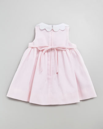 Florence Eiseman Monogrammed Scalloped Pincord Dress, 12-24 Months