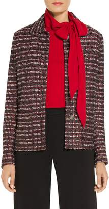St. John Novelty Tweed Knit Jacket