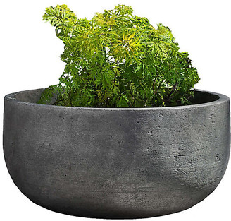 "Campania International 28"" Low Tribeca Outdoor Planter - Graystone"