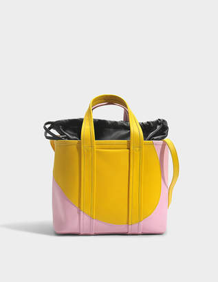 Pierre Hardy Tote Bag in Yellow Pink Calfskin