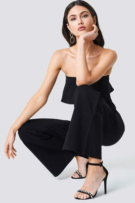 Na Kd Party Frill Bandeau Jumpsuit Black
