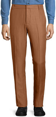 Vince Linen-Blend Tapered-Leg Trousers