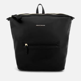 At Mybag Armani Exchange Women S Lollipop Backpack Black