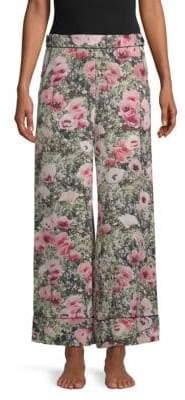 Fleur Du Mal Printed Wide-Leg Pants