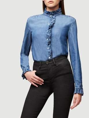 Frame Ruffle Denim Shirt
