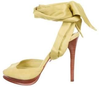 Diane von Furstenberg Suede Lace-Up Sandals