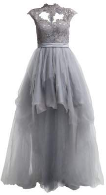 Unique Mirabel Grey Gown
