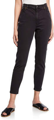 Eileen Fisher Organic Cotton Stretch High-Waist Skinny Jeans