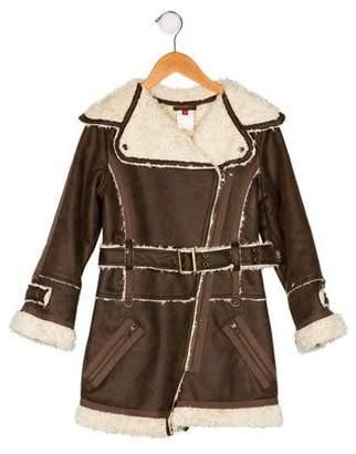 Catimini Girls' Faux Shearling Jacket