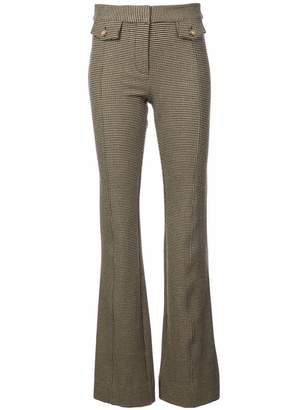 Derek Lam 10 Crosby Flare Trouser with Tab Details