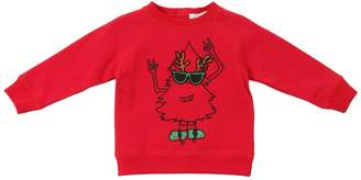 Stella McCartney Christmas Tree Printed Cotton Sweatshirt