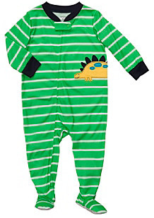 Carter's Baby Boys' Green Striped Dino Footie Pajamas