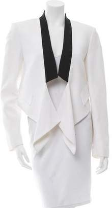 Michael Kors Shawl Lapel Cropped Blazer
