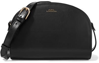 A.P.C. Atelier de Production et de Création - Sac Demi-lune Leather Shoulder Bag - Black