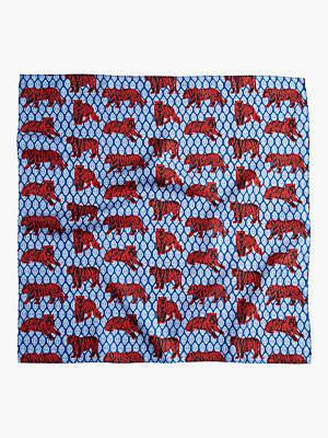 J.Crew Tiger Foulard Print Silk Bandana