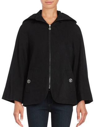 Betsey Johnson Wool Blend Cape Coat $240 thestylecure.com