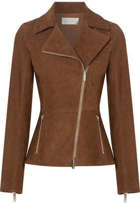 The Row Paylee Suede Biker Jacket - Chocolate