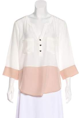 Chelsea Flower Silk Two-Tone Blouse