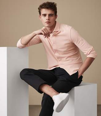 Reiss WEST Garment washed shirt Pink