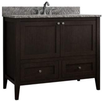 "CNC Costume National Cabinetry Vanguard 42"" Single Bathroom Vanity Base Only Base"