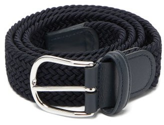 Andersons Anderson's - Woven Belt - Mens - Navy Multi