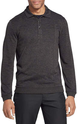 Van Heusen Mens Long Sleeve Polo Shirt
