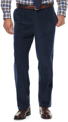 Croft & Barrow Men's Classic-Fit Pleated Corduroy Pants