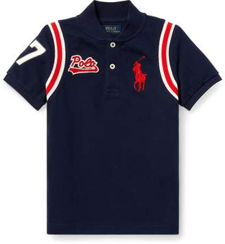 Ralph Lauren Cotton Mesh Baseball Shirt