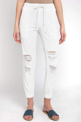 Cloth & Stone Distressed Tencel Jogger