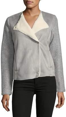 Saks Fifth Avenue Women's Faux Suede Sherpa Jacket
