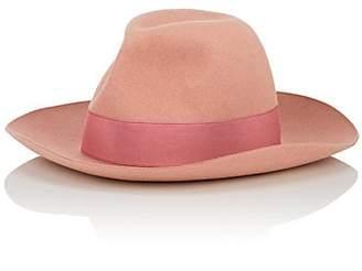 Borsalino Women's Marengo Large-Brim Fur Felt Fedora - Pink