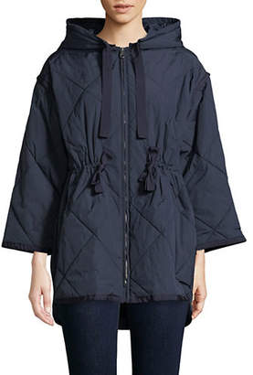 Max Mara Water-Repellent Gabardine Down Jacket