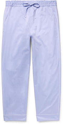 Secondskin Piped Cotton-Twill Pyjama Trousers