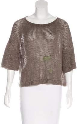 Bottega Veneta Open-Knit Linen Top