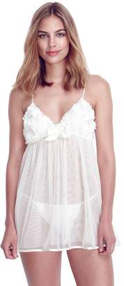 Flora Nikrooz Flora By Women's Flora by Bellflower Babydoll Chemise & Panty Lingerie Set