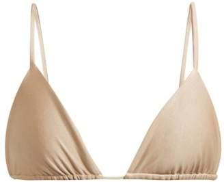 JADE SWIM Via Triangle Bikini Top - Womens - Nude