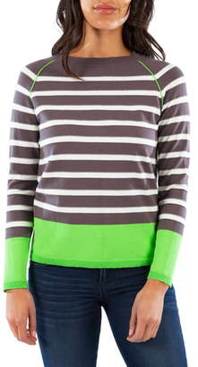 KUT from the Kloth Naomi Stripe Cotton Blend Sweater