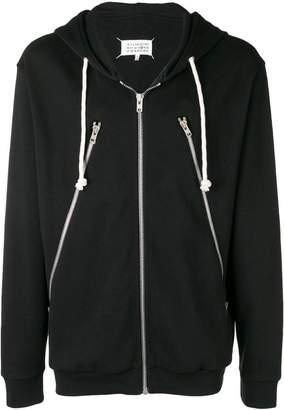 Maison Margiela zip detail hoodie