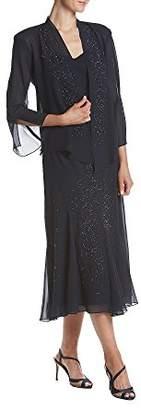 R & M Richards R&M Richards Women's Beaded Chiffon Jacket Dress