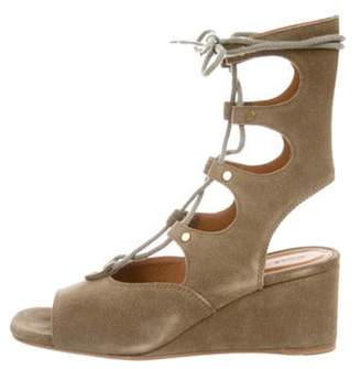 PeepToe Chloé Peep-Toe Wedge Sandals Olive Chloé Peep-Toe Wedge Sandals
