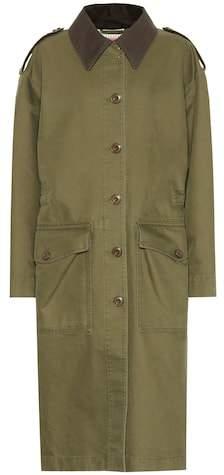 Blå Konst cotton coat