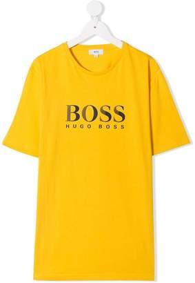 Boss Kids TEEN logo printed T-shirt